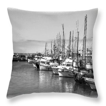 Sitten In The Harbor Throw Pillow by William Havle