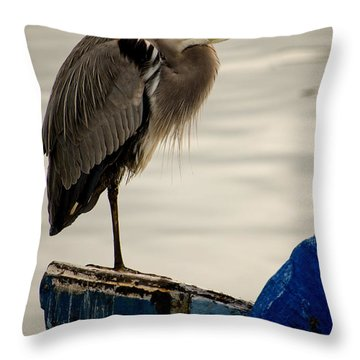 Sittin' On The Dock Of The Bay Throw Pillow
