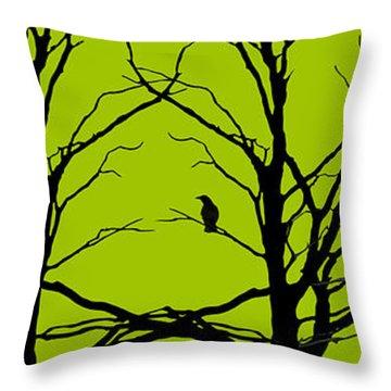 Sitting Around Throw Pillow by Lourry Legarde