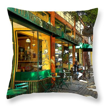 Sitting At The Bakery Throw Pillow