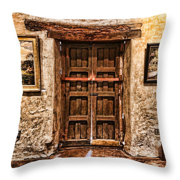 Sitting By The Door By Diana Sainz Throw Pillow