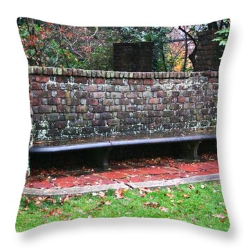 Sitting In Time Throw Pillow