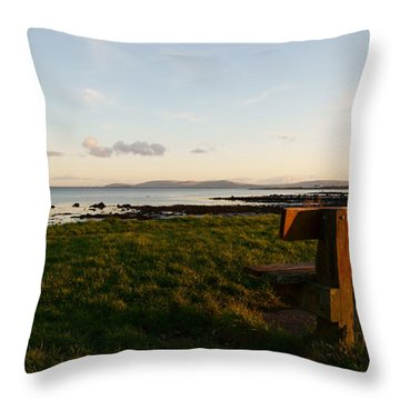 Sitting On Galway Bay Throw Pillow