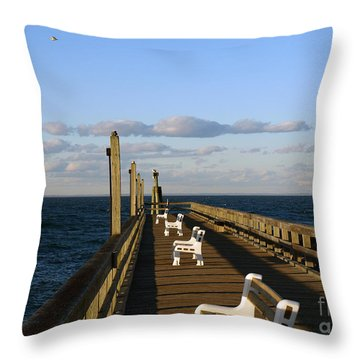 Sitting On The Dock Throw Pillow