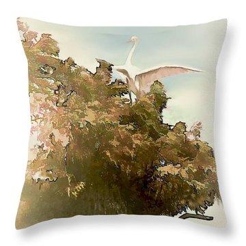 Sitting Pretty Throw Pillow by Bonnie Willis