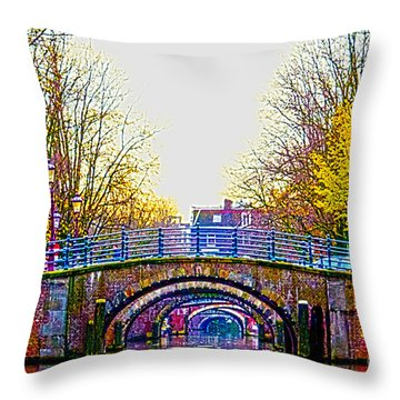 Six Bridges Throw Pillow by Pravine Chester