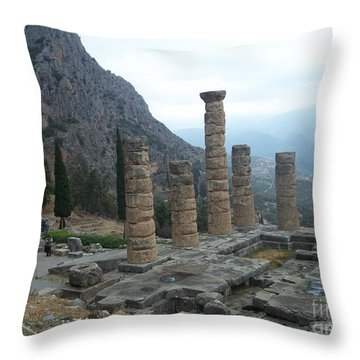 Six Columns Throw Pillow