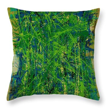 Six Degrees Throw Pillow by Jean Cormier