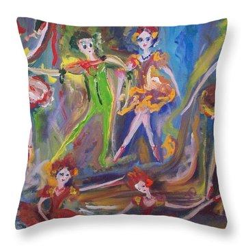 Six Eight Waltz Throw Pillow by Judith Desrosiers
