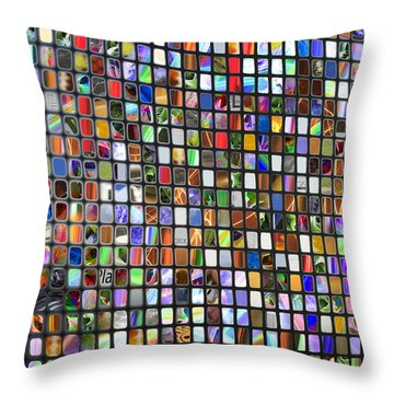 Six Hundred Rectangles Throw Pillow by Don Gradner