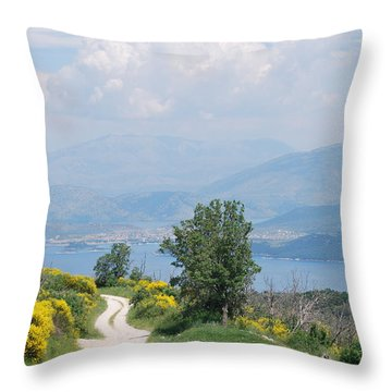 Six Islands 2 Throw Pillow by George Katechis