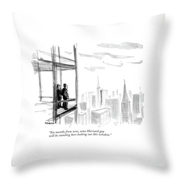 Six Months From Now Throw Pillow
