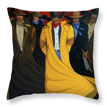 Six Pac Throw Pillow by Lance Headlee