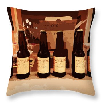 Six Pack Throw Pillow by Zinvolle Art