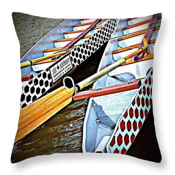 Six Sixteen Dragon Boat Throw Pillow