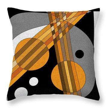 Six Strings Throw Pillow