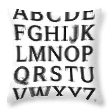 Serif Throw Pillows