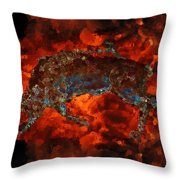 Sizzle Throw Pillow by Stuart Turnbull
