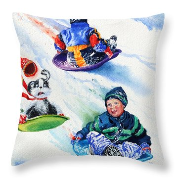 Sizzling Saucers Throw Pillow by Hanne Lore Koehler