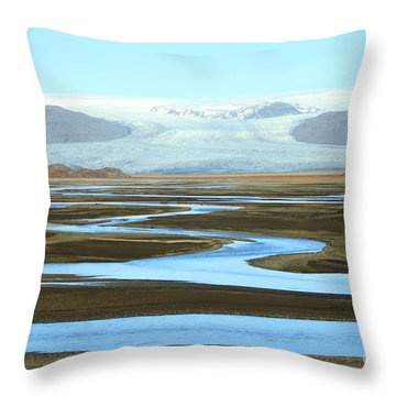 Skaftafell Glacier Throw Pillow