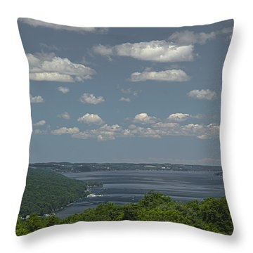 Skaneateles Lake Throw Pillow by Richard Engelbrecht