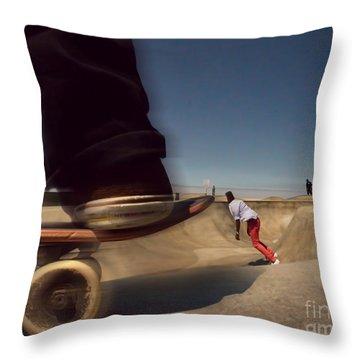 Skate Board Park Throw Pillow
