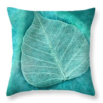 Skeletal Leaf Throw Pillow