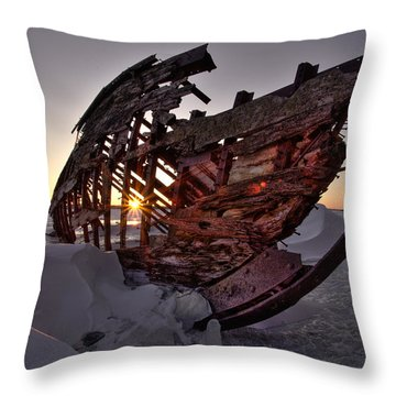Skeleton 1 Throw Pillow by Jakub Sisak