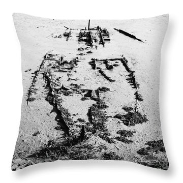Skeleton Boat Throw Pillow by Svetlana Sewell