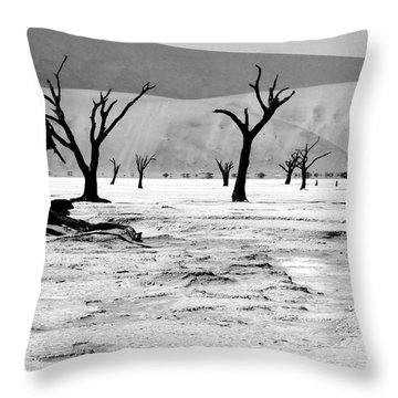 Skeleton Forest Throw Pillow by Aidan Moran