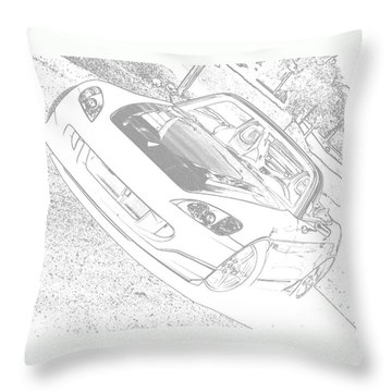 Sketched S2000 Throw Pillow