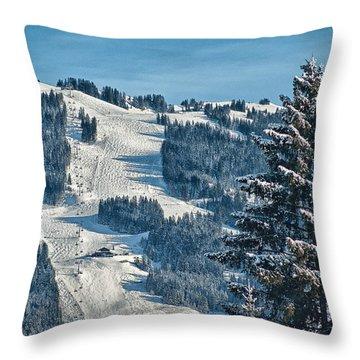 Ski Run Throw Pillow