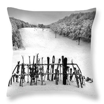 Ski Vermont At Middlebury Snow Bowl Throw Pillow