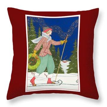Ski Vogue Throw Pillow