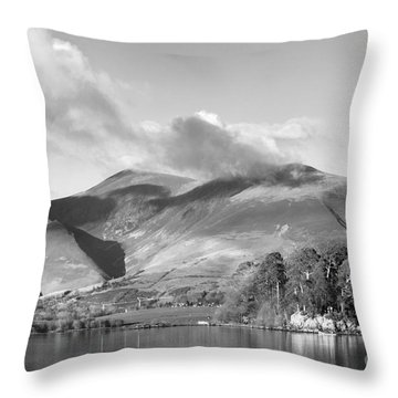 Skiddaw And Friars Crag Mountainscape Throw Pillow