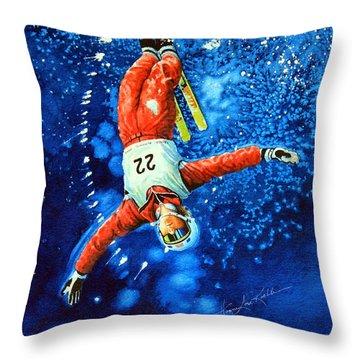 Skier Iphone Case Throw Pillow