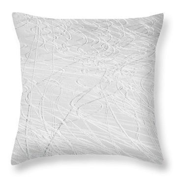 Skier's Abstract Throw Pillow