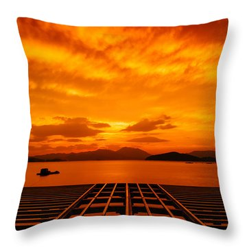Skies Ablaze - One Throw Pillow