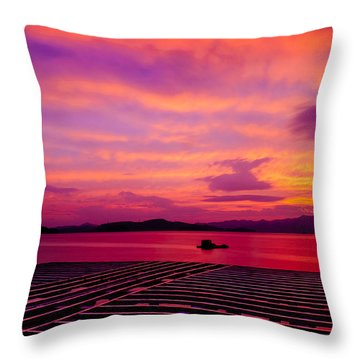 Skies Ablaze - Two Throw Pillow