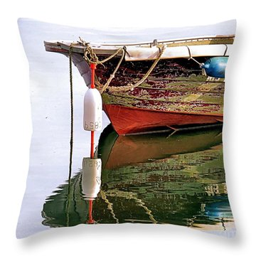 Skiff Reflections Throw Pillow