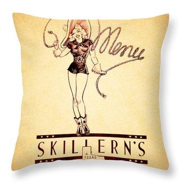 Skillerns Texas 1940 Throw Pillow