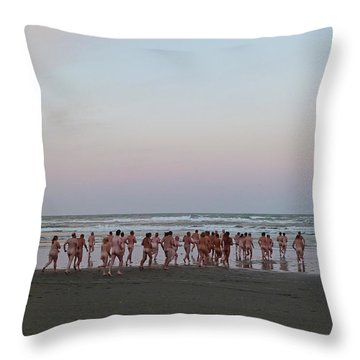 Skinny Dipping Down A Moon Beam Throw Pillow