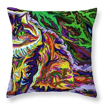 Skogkatt 1999 Throw Pillow by Robert SORENSEN