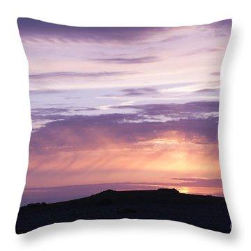 Skomer Sunset Throw Pillow by Anne Gilbert