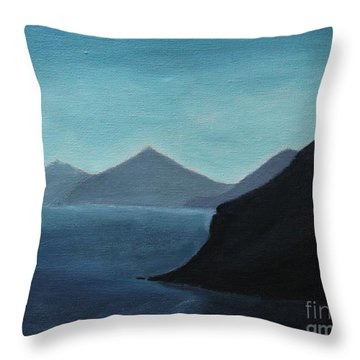 Skopelos Greece Throw Pillow