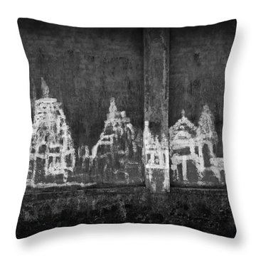 Throw Pillow featuring the photograph Skc 0003 Temple Complex by Sunil Kapadia