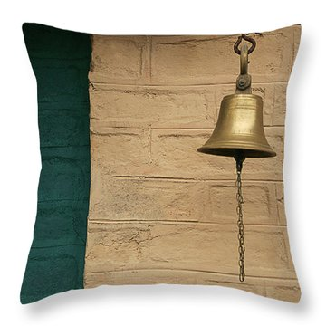 Skc 0005 A Doorbell Throw Pillow by Sunil Kapadia