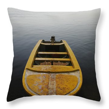 Skc 0042 Calmness Anchored Throw Pillow by Sunil Kapadia