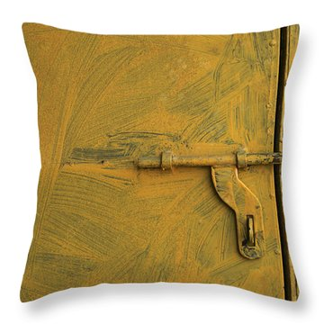 Throw Pillow featuring the photograph Skc 0047 The Door Latch by Sunil Kapadia