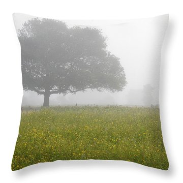Throw Pillow featuring the photograph Skc 0056 Tree In Fog by Sunil Kapadia